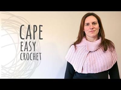 Tutorial Easy Crochet Cape