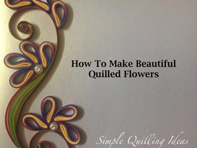 Art and Craft: DIY Purple Quilled Flowers