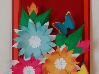 Art and Craft: Hidden message pop up slider card. Mother's day card