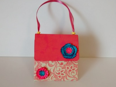 Art and Craft: How to make Explosion Hand bag Card. Exploding hand bag. Mother's day special card