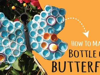 Butterfly Kids Craft –Plastic Bottle Cap Craft – DIY Wall Art
