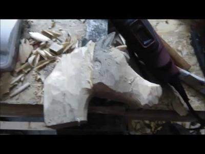 Carving a horse diy