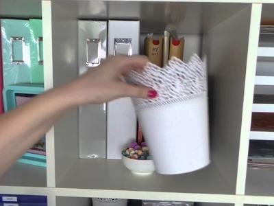 Craft Room Tour ~ Inkie Quill ~ Part 3: EXPEDIT or KALLAX IKEA STORAGE