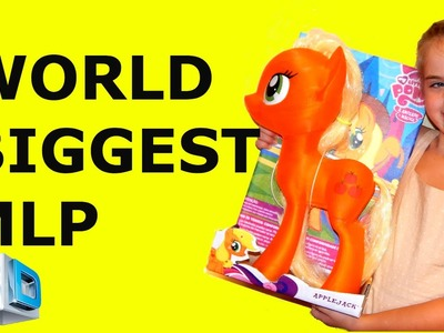 Custom World biggest My Little Pony Apple Jack 3d printed craft painting HD.  MLP unboxing craft toy