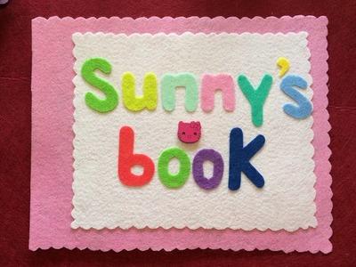 DIY craft - quiet books - gift ideas for children