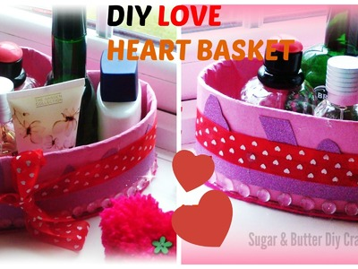 Diy Crafts Projects : heart gift basket out of cardboard, Gift Idea, best out of waste project.