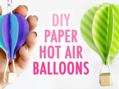 DIY Cute Paper Hot Air Balloons - HGTV Handmade
