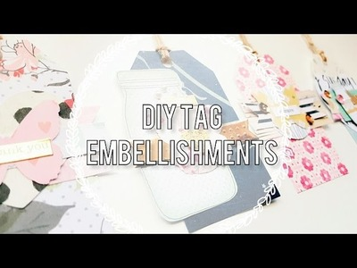 DIY Embellishments. Less Sraps, More Embellies!. Layered Tags