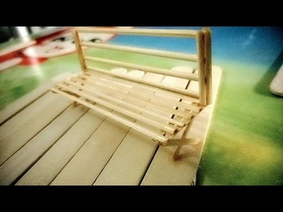 DIY - How To Make Popsicle Stick Bench - Craft For Kid