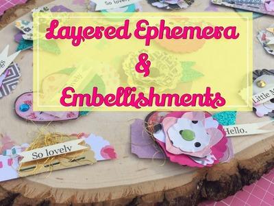 DIY Layered Embellishments & Ephemera. Project Share | I'm A Cool Mom