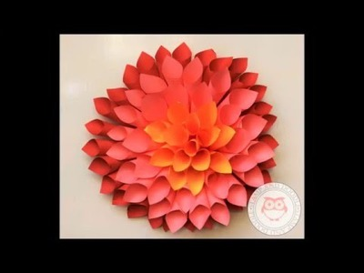 DIY Paper Dahlia Tutorial by Stamp and Doodle