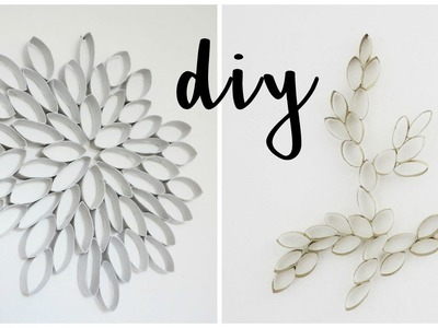 DIY: Recycling Craft Home Decor (w. toilet paper rolls)