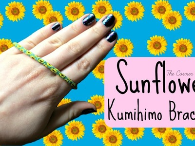 DIY Sunflower Kumihimo Bracelet How To. Friendship Bracelets. ¦ The Corner of Craft