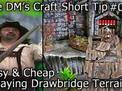 Easy Decaying Drawbridge Terrain for Table Top (DM's Craft Short Tip #85)