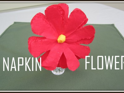 Flowers:  Art and Craft for kids : How to make Flower with napkin