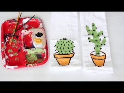 How to Craft: Decorate Your Own Kitchen Tea Towels!