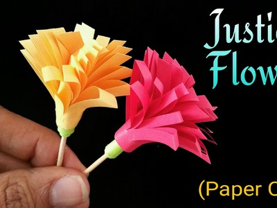 "How to make an easy paper  "" Justicia Flower"" - Craft Tutorial."