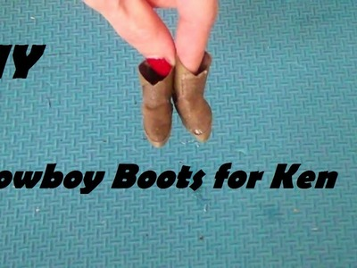 How to Make: Cowboy Boots for Ken (Doll Craft Tutorial)