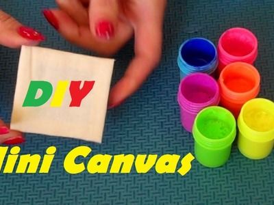 How to Make: Mini Painting Canvas EASY - (Doll Craft Tutorial)