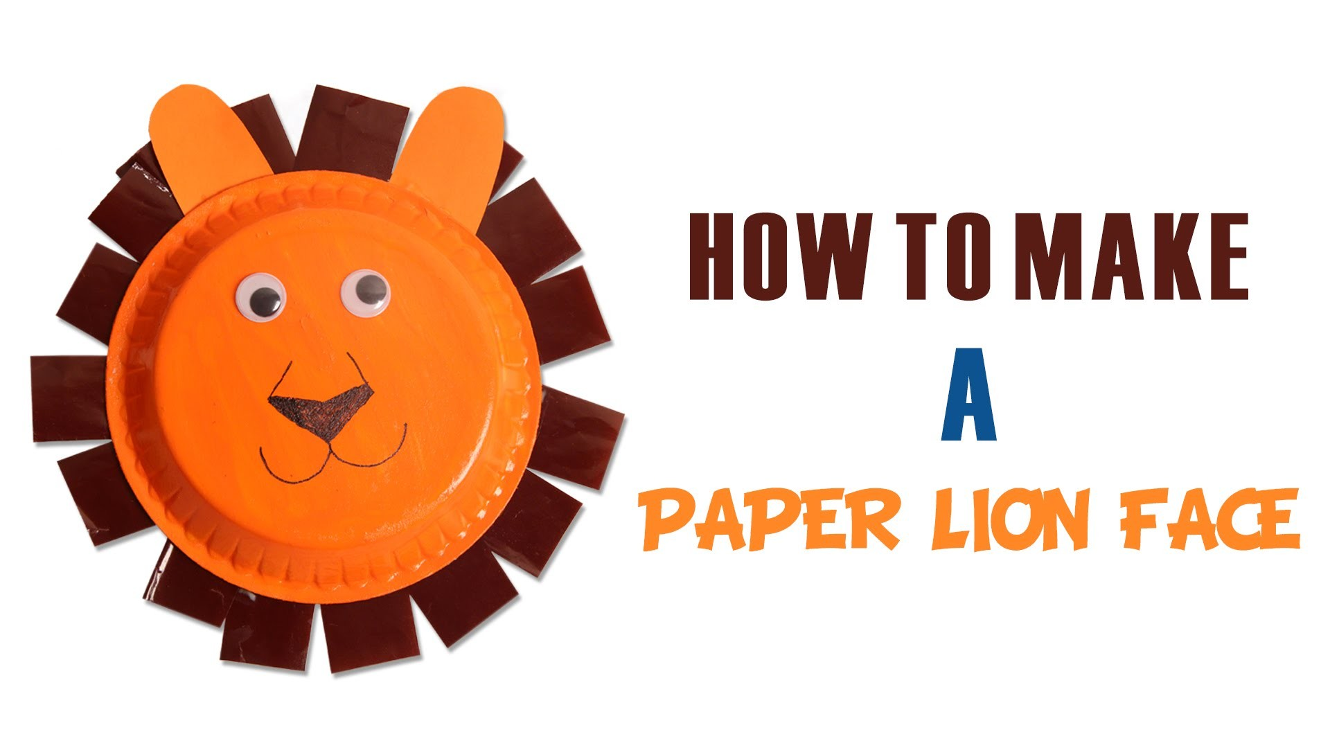How To Make Paper Lion Face | Learn Art and Craft | DIY Decorated Paper Lion Face