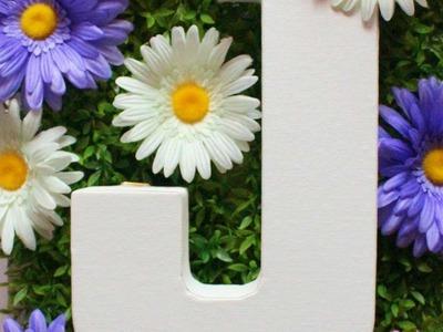 How To Spring Monogram Canvas Garden - DIY Crafts Tutorial - Guidecentral
