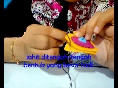#MYkomunitikreatif #MYkif TUTORIAL DIY KEYCHAIN FELT CRAFT