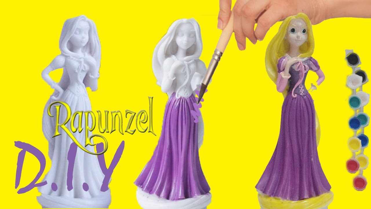 Paint Your Own Disney Princess Rapunzel, Ariel Easy Painting DIY Craft Do It Yourself - Part 1