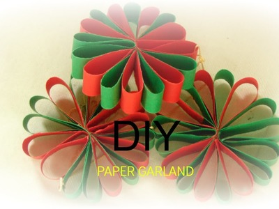 PAPER CRAFT: How To Make Paper Flower Garland -Wall Hanging-Easy & simple DIY -5MIN