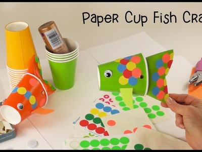 Paper Cup Fish Puppet Craft - View it and Do it Craft!
