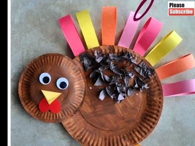 Paper Plate Turkey Craft| Diy Picture Ideas | Beautiful Handmade Set Of Collection