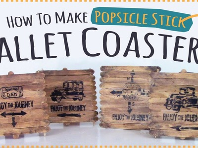 Popsicle Stick Craft  |  Father's Day Gift  | Popsicle Stick Pallet Coasters Kids Craft