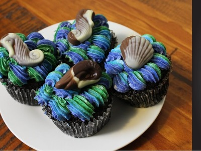 "Super Easy ""Under the Sea"" inspired cupcakes 