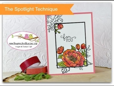 The Spotlight Technique with Stampin Up Birthday Blooms