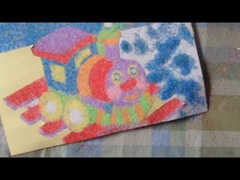 Train Sand Painting - Paint With Sand Craft Kit For Kids
