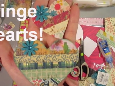Tutorial: Fringe Heart Embellishments! Easy and sooo cute!