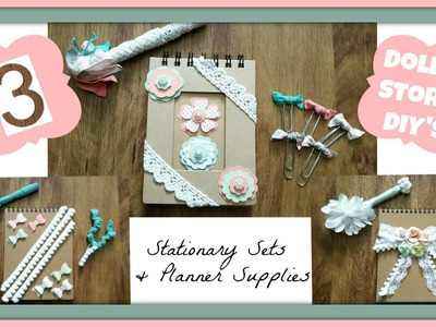 3 DOLLAR STORE DIY'S!!! Custom Stationary Sets & Planner Supplies!
