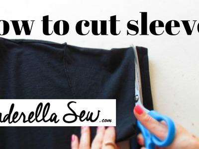 Cut Tshirt Sleeves - Shorten Sleeves - Easy Fast DIY T-shirt Tutorials