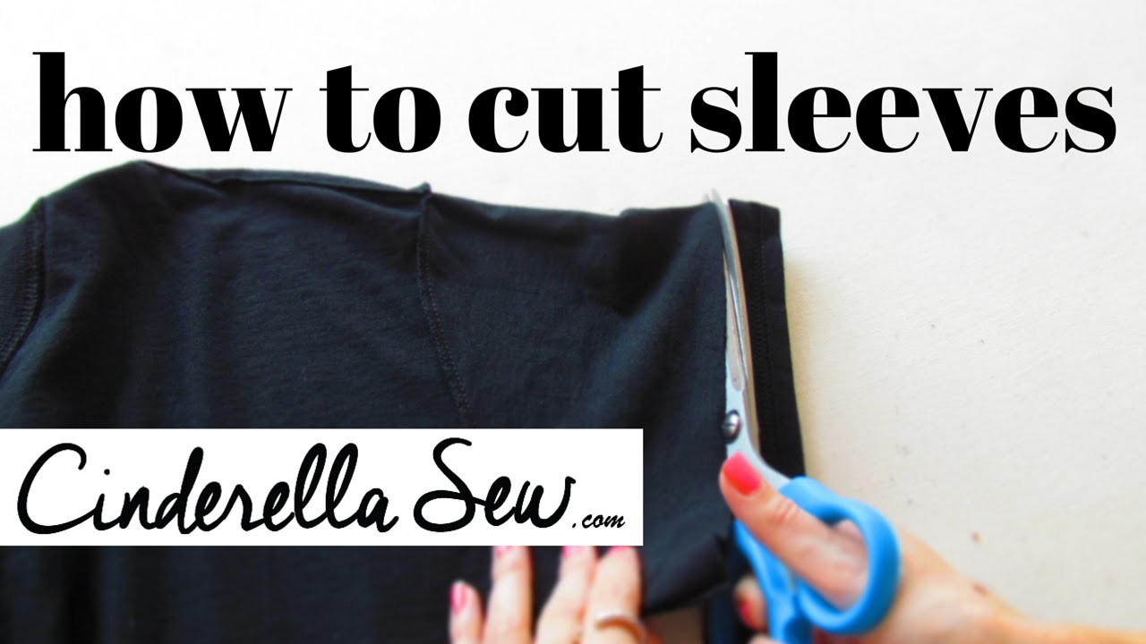Cut Tshirt Sleeves - Shorten Sleeves - Easy Fast DIY T-shirt Tutorials