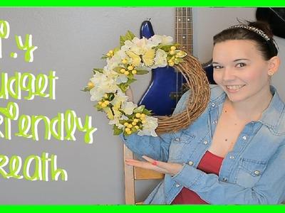 D.I.Y Budget Friendly Wreath