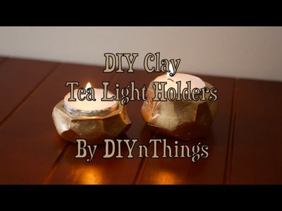 DIY Clay Tea Light Holders