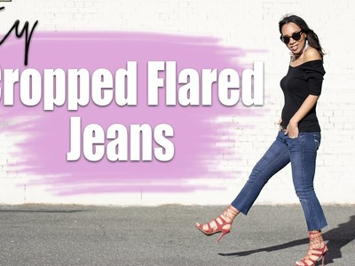 DIY Cropped Flared Jeans | The Way To My Hart
