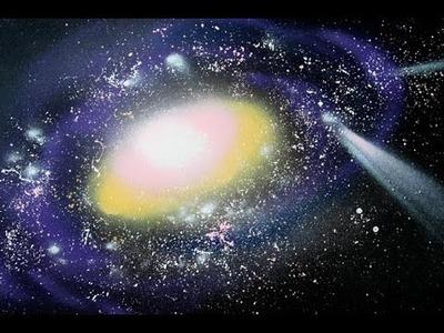 DIY galaxy painting acrylic | Acrylic Speed Painting