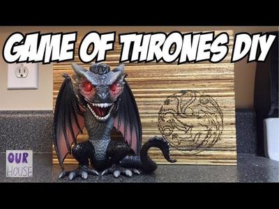 DIY Game Of Thrones Decor - Targaryen Pallet Wood Project