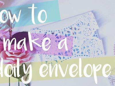 DIY   How To Make A Doily Envelope   Love Hijab