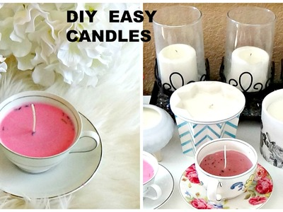 DIY | HOW TO MAKE CANDLES | TEACUP CANDLE