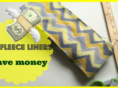 DIY How to Make Fleece Liners for Cloth Diapers, NO SEWING! Prevent Diaper Rash and Save Money!!!