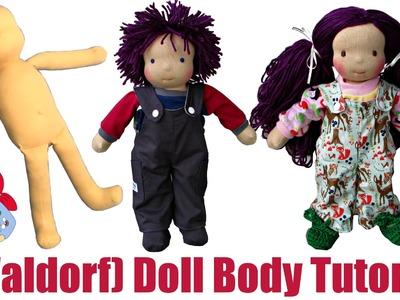 DIY | How to sew a (Waldorf) Doll Body Step by Step | Sami Doll Tutorials
