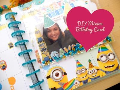 DIY Minion Birthday Card #SweetBlyss