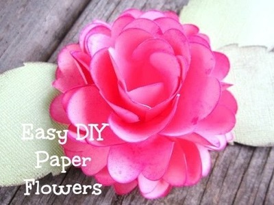 DIY Paper flowers-Stella Ruffle Rose Style
