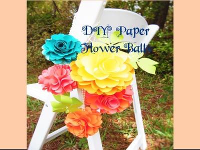 DIY Paper Rose Flower Pomander Kissing Balls